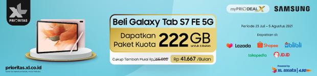 XL Promo Bundling Samsung Galxy Tab S7 FE 6G