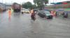 Hujan Sejak Pagi, Air Genangi Jalan di Tanjung Priok