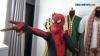 Unik, Perias Wajah Menggunakan Kostum Spiderman