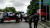 Hilang Kendali, Truk Trailer Hantam Trotoar dan Masuk Parit di Tanjung Priok