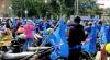 Ratusan Simpatisan Partai Demokrat Kawal Penyerahan Surat ke Kemenkumham