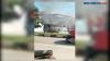 Mobil Angkutan Kota Terbakar di SPBU Kendari