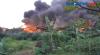 Ledakan Dan Semburan Api Sebabkan Sebuah Pabrik Cat Ludes Terbakar