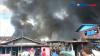 Pemukiman Padat Penduduk Terbakar di Bitung