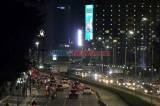 Jalan MH Thamrin Jakarta Ramai di Malam Takbiran