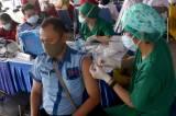 Ribuan Sopir Transportasi Umum Kota Tangerang Jalani Vaksinasi Covid-19 di Terminal Poris