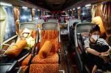 Suasana Terminal Daya Makassar Jelang Pemberlakuan Larangan Mudik