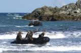 Kekompakan Prajurit Marinir Indonesia-Amerika saat Latihan Navigasi Laut Reconex 21-II