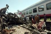 Mesir Revisi Jumlah Korban Tewas Tabrakan Maut Kereta Api