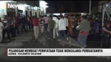 Berkumpul Saat PSBB, Ratusan Warga Gowa Dapat Hukuman Fisik