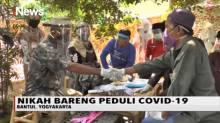 Unik, Dua Pasang Pengantin Nikah dengan Mas Kawin APD di Yogyakarta