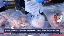 Polisi Sita 600 Kg Daging Babi Dijual dalam Kemasan Daging Sapi