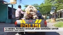 Belasan Mobil Patroli Polisi di Sukoharjo Disulap Jadi Gerobak Sayur
