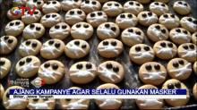 Inovatif Saat Corona, Warga Buat Biskuit Masker di Blitar