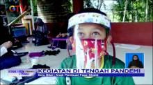 Mengisi Waktu, Anak-anak di Banyumas Membuat Alat Pelindung Diri