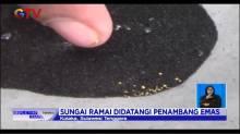 Serbuk Emas Ditemukan, Warga Beramai-ramai Dulang Sungai Landaka