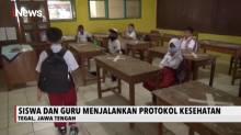 Siswa di Tegal Jalani Simulasi Belajar New Normal di Sekolah