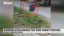 Ibu dan Anak Terjatuh dari Motor, Aksi Pelaku Penjambretan Terekam CCTV