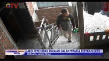 Tak Lazim, Pencurian Pakaian Dalam Wanita Terekam CCTV