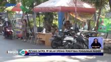Puluhan Orang Terjaring Razia Masker di Jakarta Pusat
