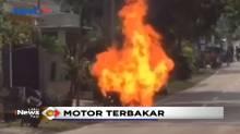 Sebuah Motor Pengangkut Tabung Gas di Jaktim Hangus Terbakar