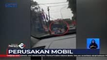 Dua Pria Lakukan Perusakan Mobil yang Berpenumpang Ibu dan Anak Balita