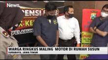 Seorang Pemuda Pelaku Curanmor di Surabaya Dikeroyok Warga