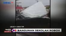 Bangunan Sekolah Dasar Roboh di Medan Dihantam Hujan Deras dan Angin Kencang