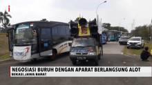 Polisi Menghadang Demo Buruh Ke Jakarta, Karena PSBB