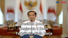 Presiden Joko Widodo menjawab 8 hoax Terkait UU Cipta Kerja
