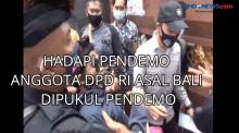 Hadapi Pendemo Anggota DPD RI Asal Bali Dipukul Pendemo