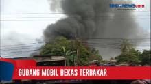 Gudang Penyimpanan Mobil Bekas di Jalan Raya Parung Terbakar