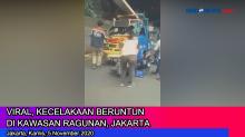 Viral, Kecelakaan Beruntun di Kawasan Ragunan, Jakarta