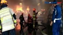 Gudang Pabrik Kapas di Bandung Ludes Terbakar