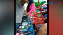 Evakuasi Seorang Ibu Terjepit Odong-odong Berlangsung Dramatis