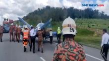 Mesin Meledak, Pesawat Singapura Mendarat Darurat Di Tol Malaysia
