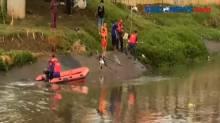 Bocah Hilang Saat Berenang di Banjir Kanal Barat Terekam Kamera
