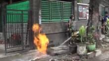 Muncul Kobaran Api Dalam Saluran Air, Diduga Pipa Gas Bocor