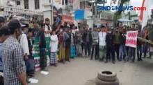Unjuk Rasa di Depan KPU Tasikmalaya Berujung Ricuh