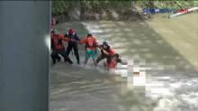 Evakuasi Jenazah yang Terseret Arus di Bojonegoro Berlangsung Dramatis