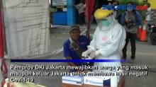 Supir dan Penumpang di Terminal Tanjung Priok Jalani Rapid Test