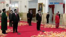 Video Enam Menteri Baru Dilantik Presiden Jokowi di Istana Negara