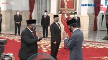 Presiden Memberikan Ucapan Selamat Kepada Menteri dan Wamen Baru