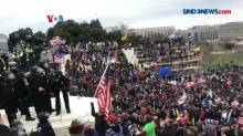 Ribuan Pendukung Trump Serbu Gedung Capitol, 1 Wanita Tewas