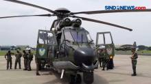 Asops KSAU Tinjau Lokasi Jatuhnya Pesawatdengan Helikopter Caracal
