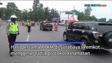 PPKM Hari Pertama, Pemkot Surabaya Gelar Razia Prokes