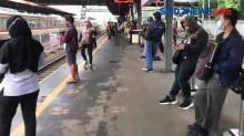 PPKM Hari Kedua, Prokes di Stasiun Tanah Abang Diperketat
