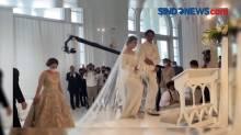 Cantiknya Felicya Angelista Berbalut Gaun Putih di Hari Pernikahan