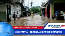8 Kecamatan Terendam Banjir di Manado, Sulawei Utara