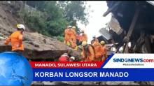 Tim SAR Berhasil Evakuasi Korban Longsor di Manado